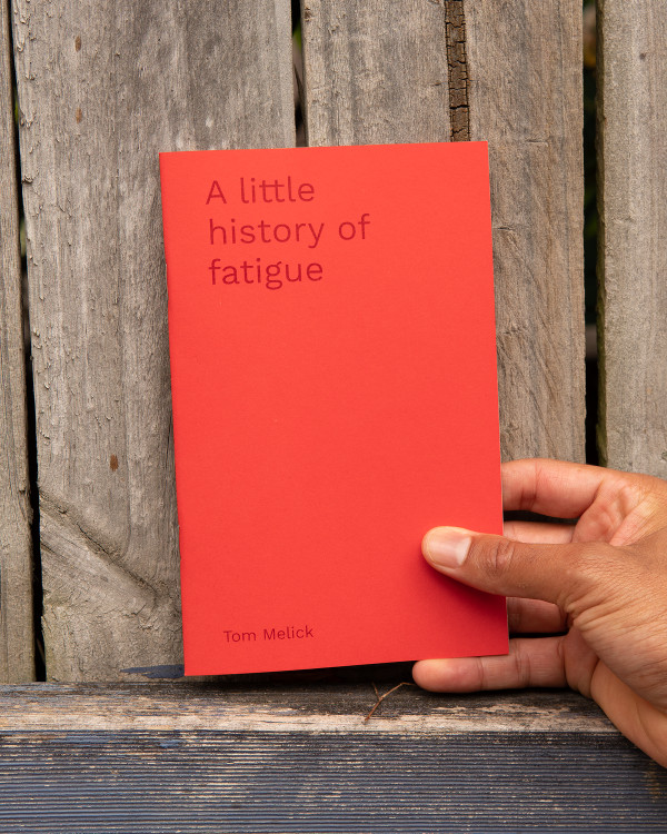 A little history of fatigue pamphlet with red cover